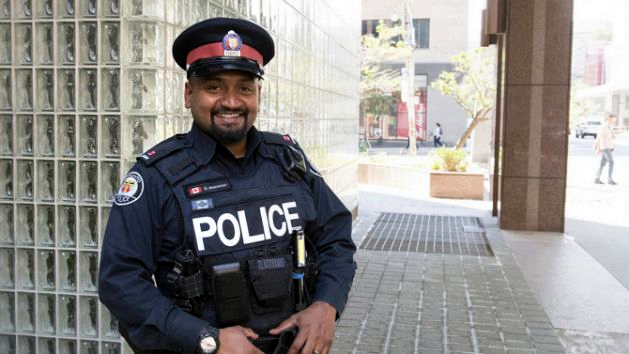 1708.Toronto police officer Niran Jeyanesan - Yahoo - Toronto Police Service - Canadian Press